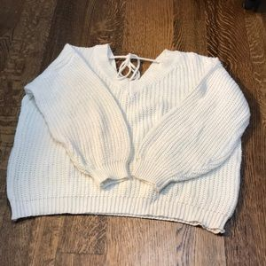 White ZAFUL sweater